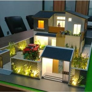 那建筑模型模拟自然的园林理水的类型