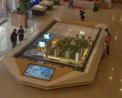 房地产沙盘模型表现景观地面时怎么铺设